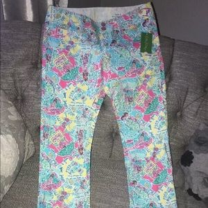 Lilly Pulitzer Straight Jeans Women's 6 $158 NEW